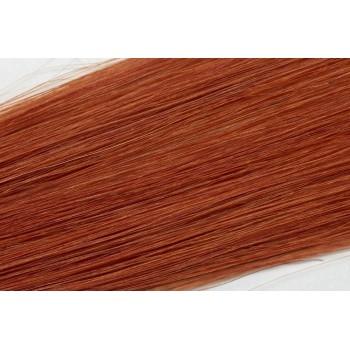 Clip in vlasy  30cm - Intezivní měděná barva