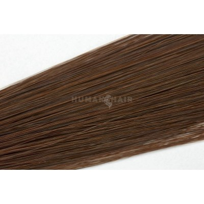Clip in vlasy 30cm - Středně hnědá barva