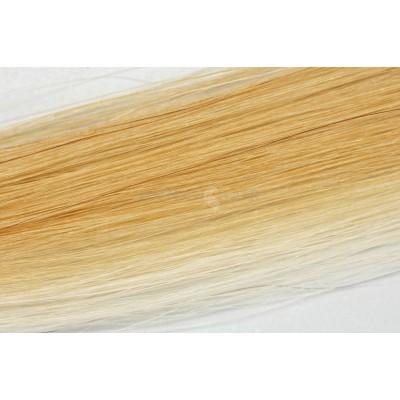 Clip in vlasy 30cm - Melír 50% tmavá blond medová, 50% velmi světlá blond