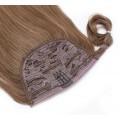Clip in culík 100% lidské vlasy 50cm - středně hnědá