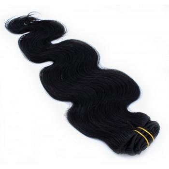 Vlnitý clip in set 50cm - černá