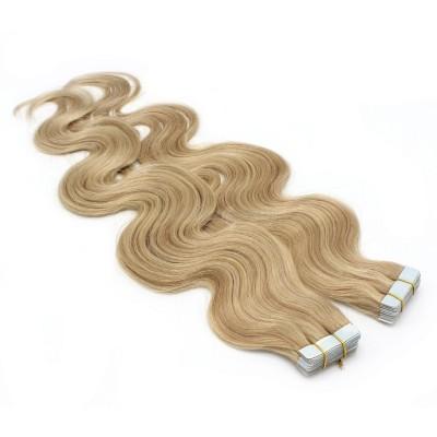 Vlnité tape in 50cm - přírodní/světlejší blond