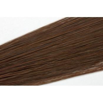 Clip in vlasy 50cm - Středně hnědá barva