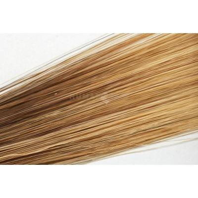 Clip in vlasy 50cm - Středně hnědá/ tmavá blond medová barva