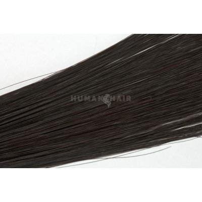 Clip in vlasy 30cm - Tmavě Hnědá barva