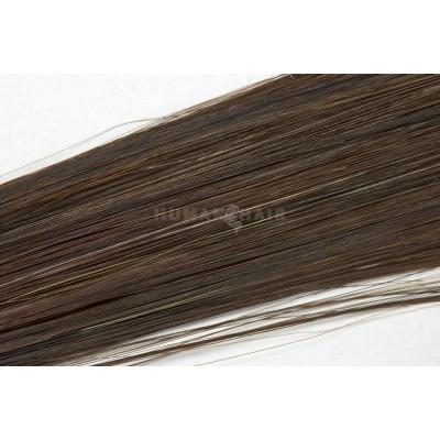 Clip in vlasy 30cm - Tmavší hnědá barva