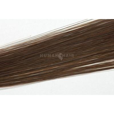Clip in vlasy 30cm - Čokoládově hnědá barva
