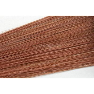 Clip in vlasy 30cm - Tmavší měděná barva