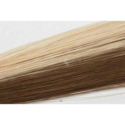 Clip in vlasy 30cm - Melír 50% čokoládově hnědá, 50% popelavá světlá blond