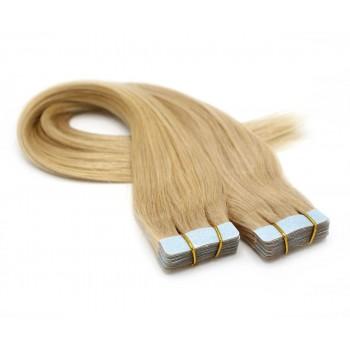 Rovné tape in 40cm - přírodní blond