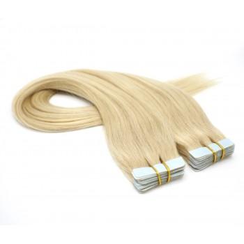 Rovné tape in 40cm - nejsvětlejší blond