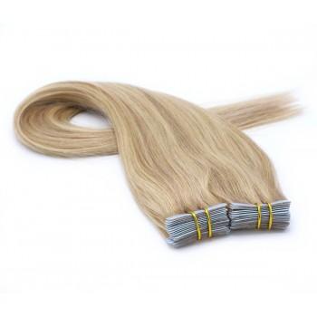 Rovné tape in 40cm - přírodní/světlejší blond