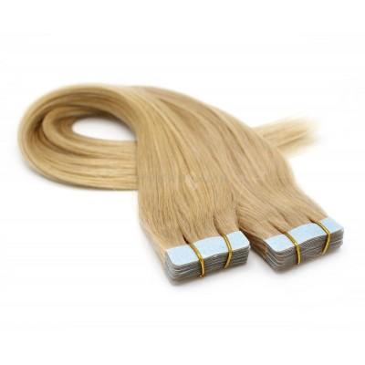 Rovné tape in 50cm - přírodní blond