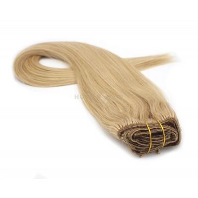Rovný clip in set 40cm 70g - přírodní blond