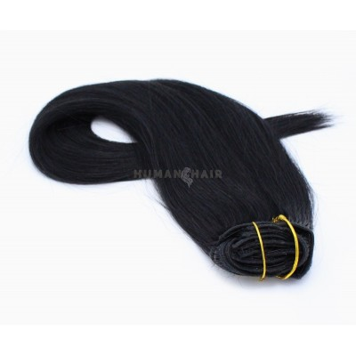 Rovný clip in set 40cm 100g - černá