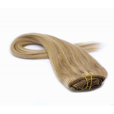 Rovný clip in set 40cm 100g - přírodní/světlejší blond