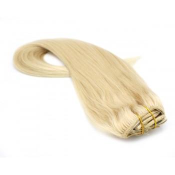 Rovný clip in set 50cm - nejsvětlejší blond