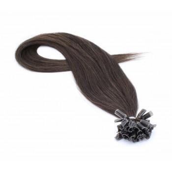 Rovné keratin 40cm - tmavě hnědá