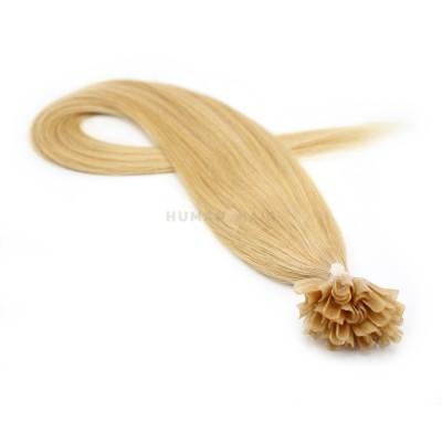 Rovné keratin 40cm - přírodní blond