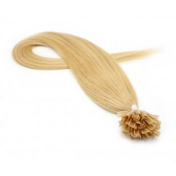 Rovné keratin 50cm - přírodní blond