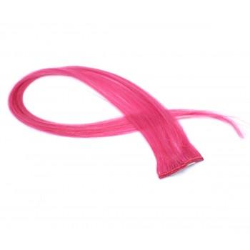 Clip in pramínek - růžová