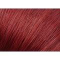 Rovné micro ring vlasy 60cm - měděná