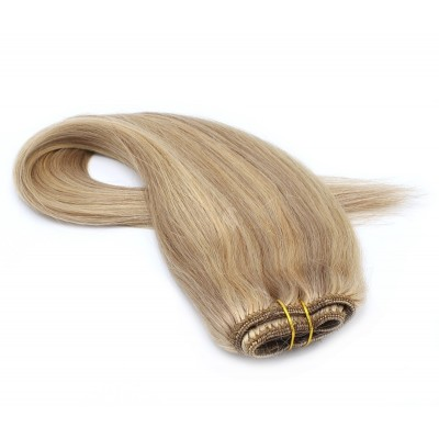 Rovný clip in pás 40cm - přírodní/světlejší blond