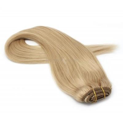 Rovný clip in pás 50cm - přírodní blond