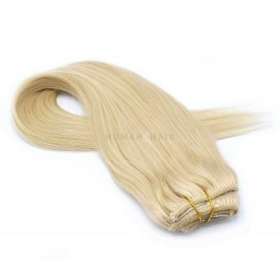 Rovný clip in pás 50cm - nejsvětlejší blond