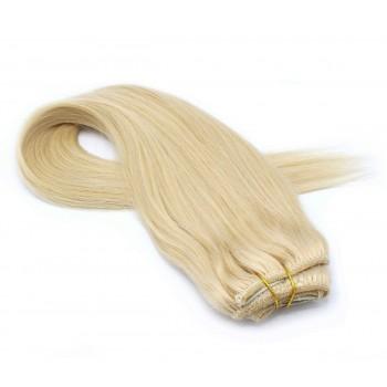 Rovný clip in pás 60cm - nejsvětlejší blond
