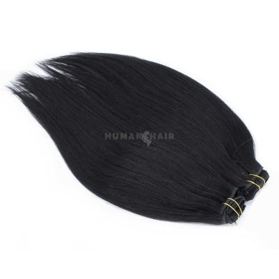 DELUXE rovný clip in set 50cm 200g - černá