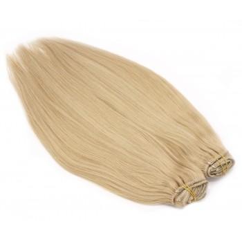 DELUXE rovný clip in set 50cm 200g - přírodní blond
