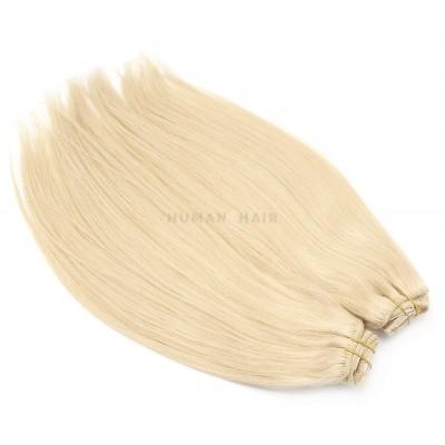 DELUXE rovný clip in set 50cm 200g - nejsvětlejší blond