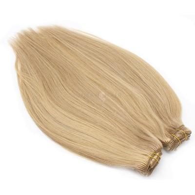 DELUXE rovný clip in set 70cm 280g - přírodní/světlejší blond