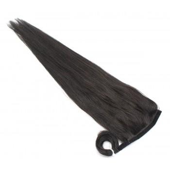 Clip in culík 100% lidské vlasy 50cm - přírodní černá