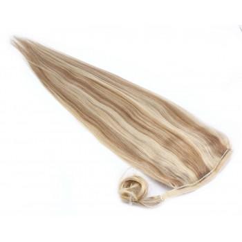 Clip in culík 100% lidské vlasy 50cm - světlý melír