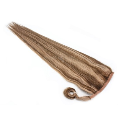 Clip in culík 100% lidské vlasy 50cm - tmavý melír