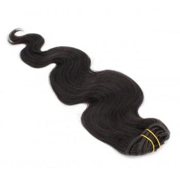 Vlnitý clip in set 50cm - přírodní černá