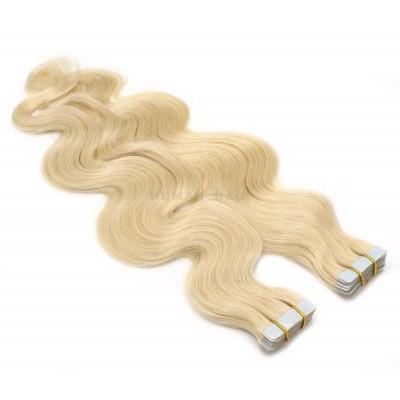 Vlnité tape in 50cm - nejsvětlejší blond