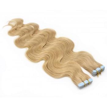 Vlnité tape in 60cm - přírodní blond