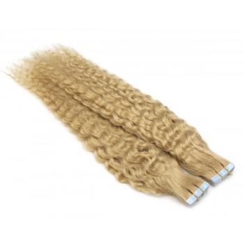 Kudrnaté tape in 60cm - přírodní blond