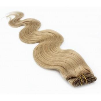 Vlnitý clip in set 50cm - přírodní blond
