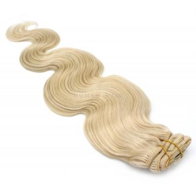 Vlnitý clip in set 50cm - nejsvětlejší blond