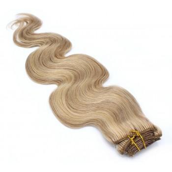 Vlnitý clip in set 50cm - přírodní/světlejší blond