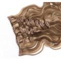 Vlnitý clip in set 50cm - tmavý melír