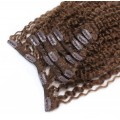 Kudrnatý clip in set 50cm - středně hnědá