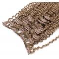 Kudrnatý clip in set 50cm - světle hnědá