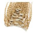 Kudrnatý clip in set 50cm - přírodní blond