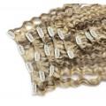 Kudrnatý clip in set 50cm - platina/světle hnědá