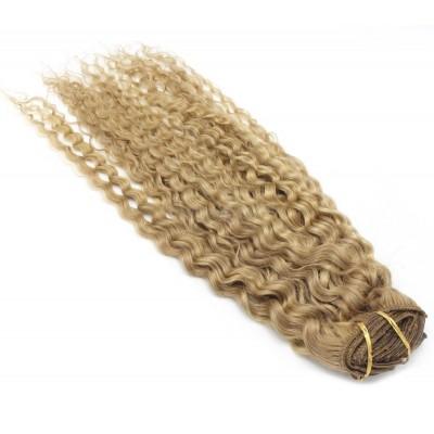 Kudrnatý clip in set 50cm - přírodní/světlejší blond